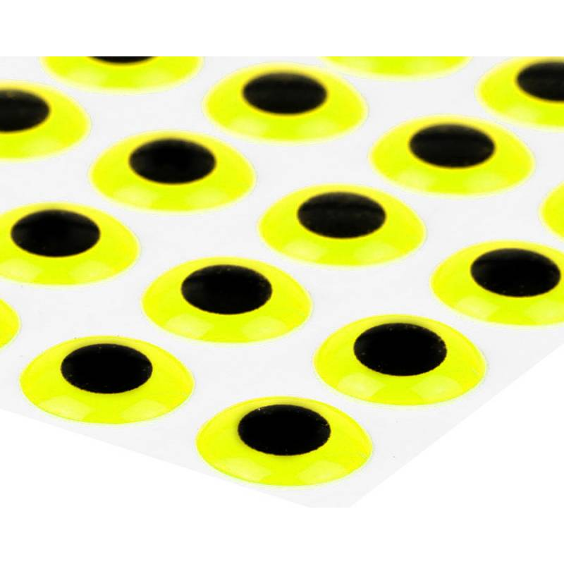 Sybai 3D Epoxy Eyes 9 mm - Fluo Yellow