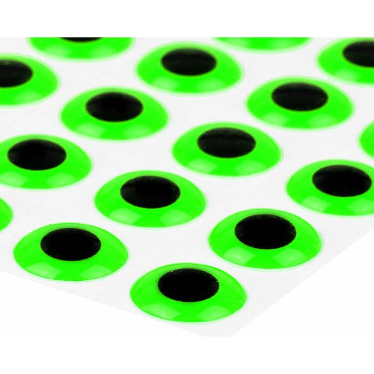 Sybai 3D Epoxy Eyes 9 mm - Fluo Green