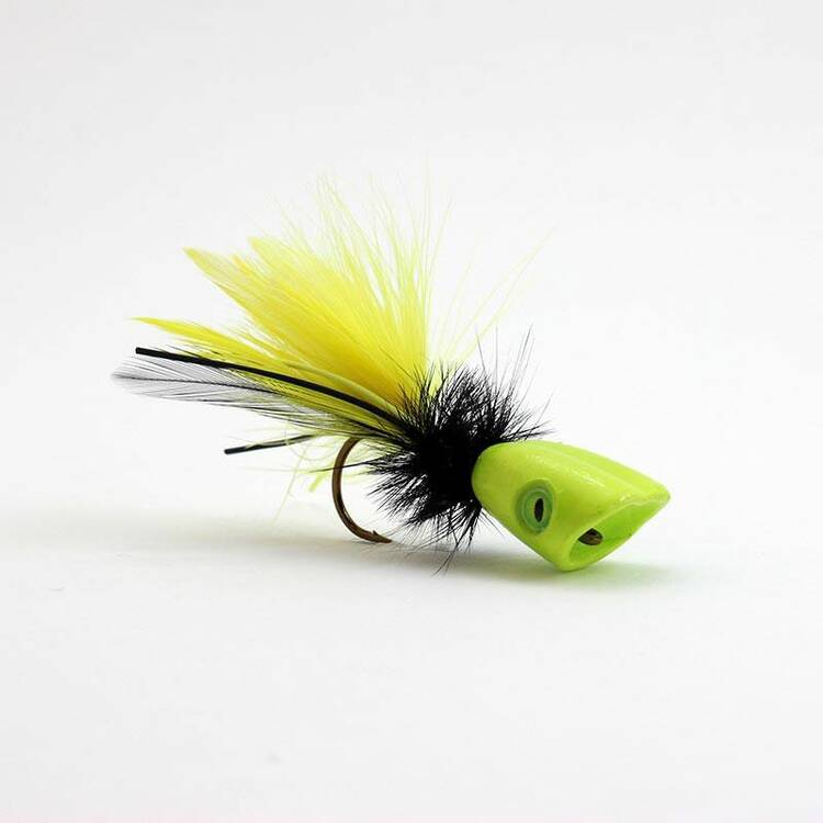 Fish Skull Surface Seducer Double Barrel Popper Köpfe - M
