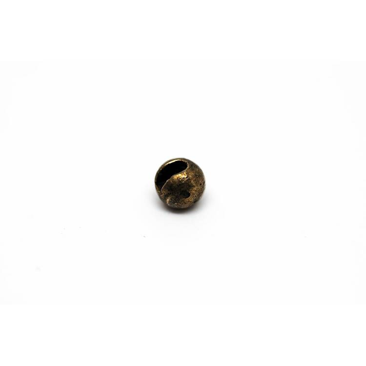 Slotted Tungsten Perlen Beads - Bronze